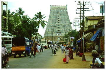 View of the Rajagopuram from the South