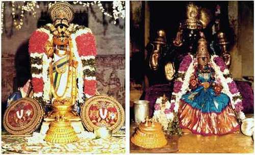 Perumal & Thaayar extending their infinite grace