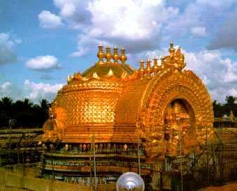 Golden Vimana (Roof) of Perumal Sannidhi