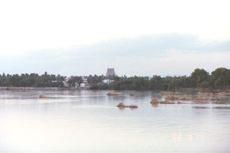 Rajagopuram from Cauvery Bridge